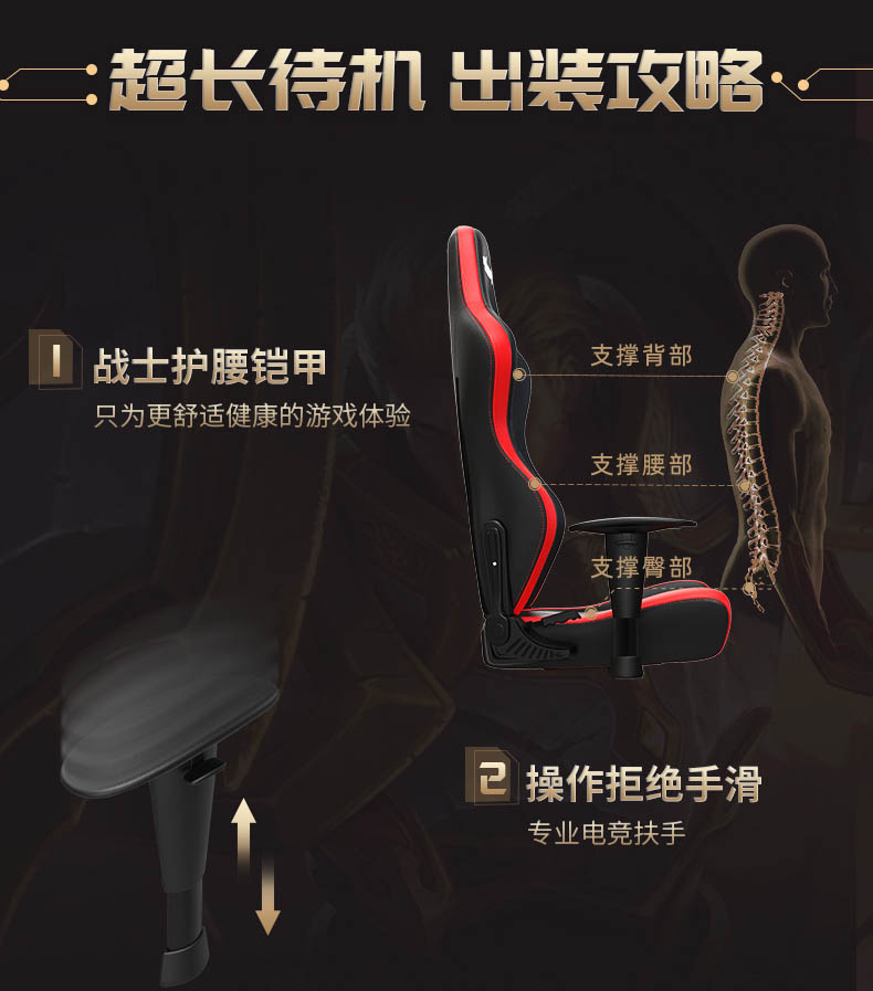 专业电竞椅-战神王座产品介绍图10