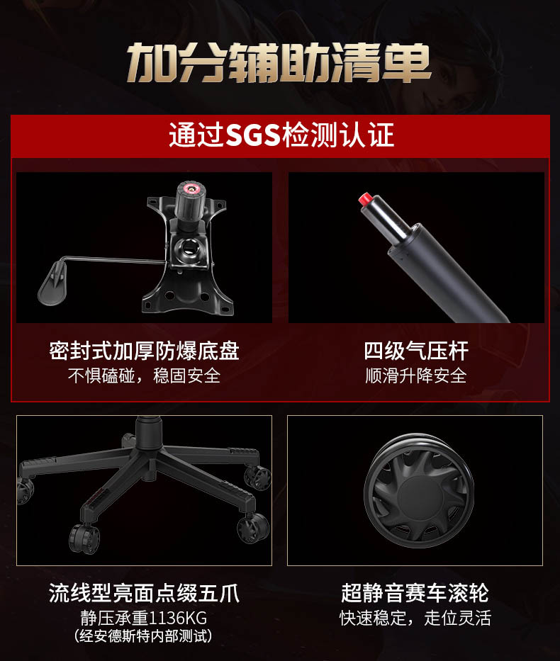 专业电竞椅-战神王座产品介绍图13