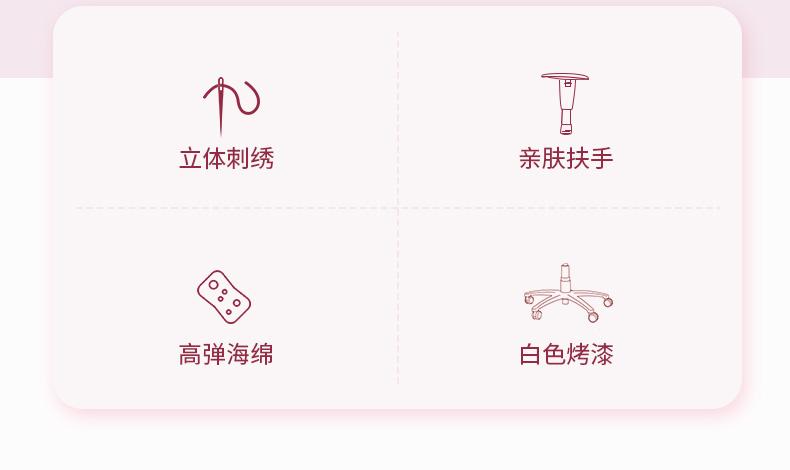 少女电竞椅系列-蔷薇王座产品介绍图2