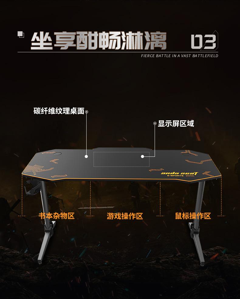 猎豹战士电竞桌产品介绍图5