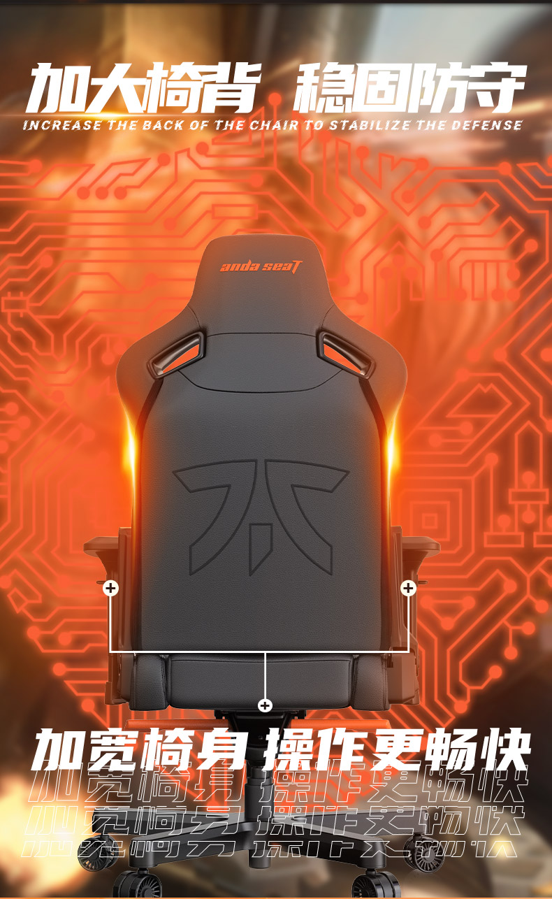 FNC战队定制款电竞椅产品介绍图4