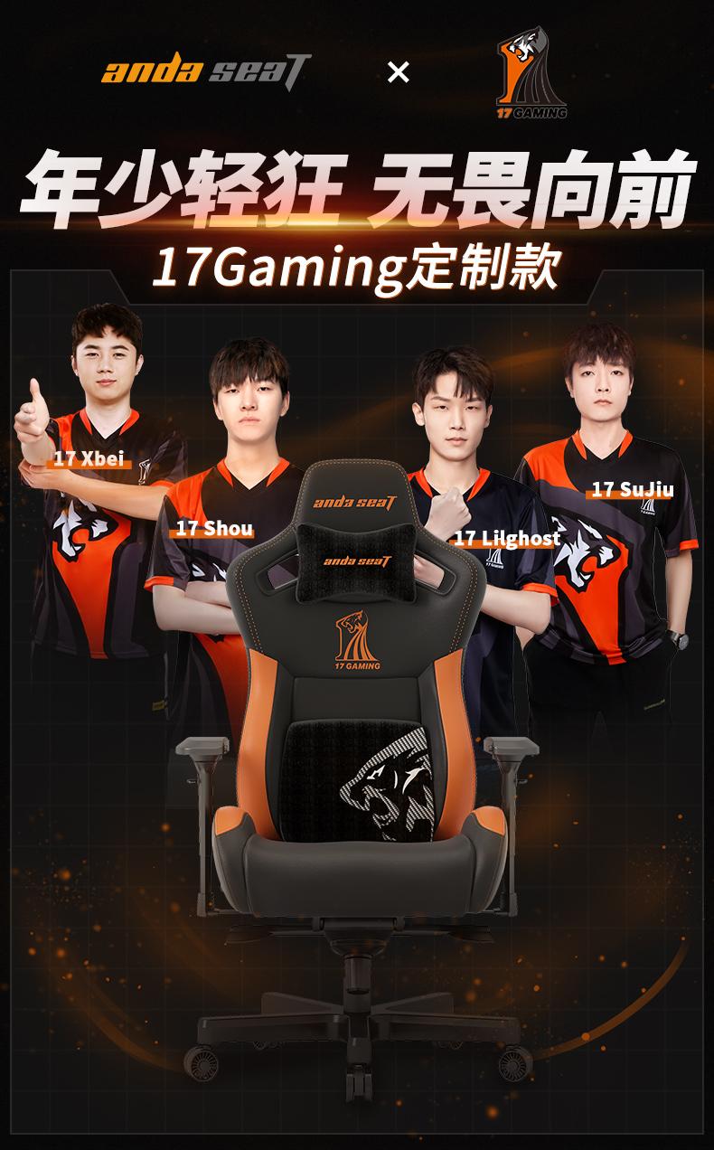 17Gaming战队定制款电竞椅产品介绍图1