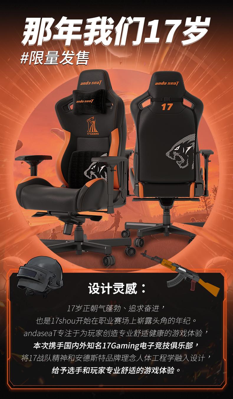 17Gaming战队定制款电竞椅产品介绍图2