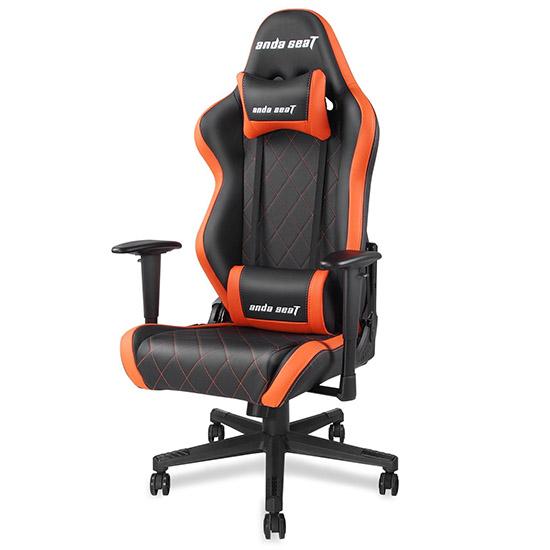 黑橙款战神王座电竞椅