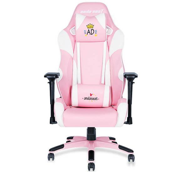 粉红款初音王座美女主播电脑椅