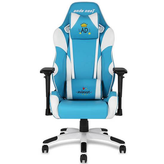 蓝色款初音王座美女主播电脑椅
