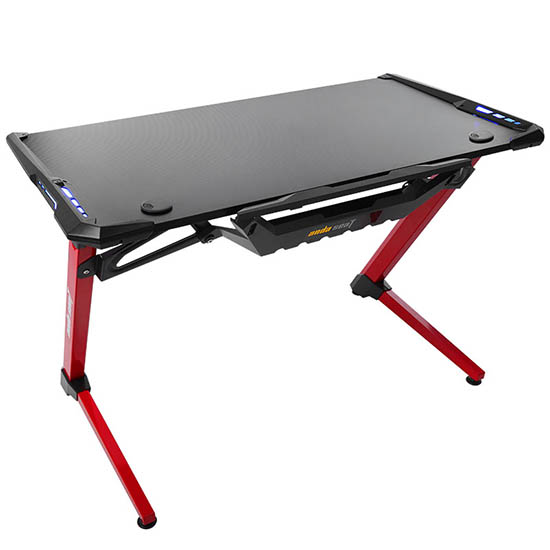 黑红款超能战士电竞桌