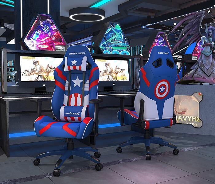 美国队长版 正义王座 新猎豹电竞桌椅组合图