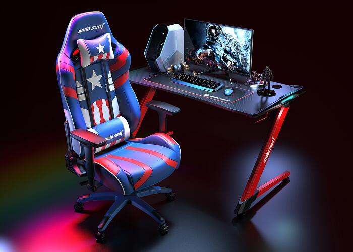 正义王座新猎豹电竞桌椅组合图5