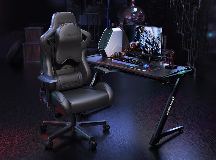 霸气王者 赤焰王座 搭配机甲电竞桌椅组合图