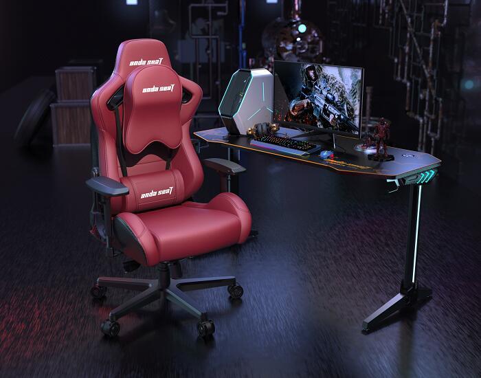 霸气王者 赤焰王座 搭配新款猎豹电竞桌椅组合图