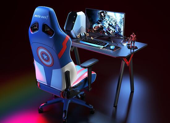现代电子竞技桌 黑暗武士 电竞桌椅组合图