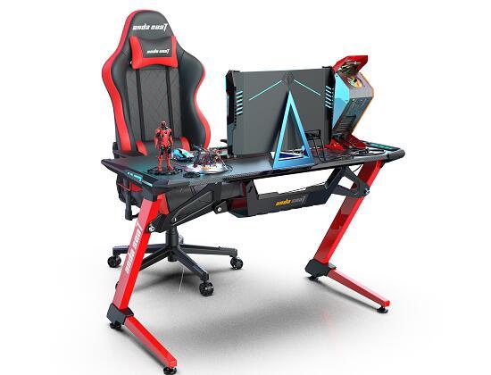 现代电子竞技桌 超能战士 电竞桌椅搭配组合图