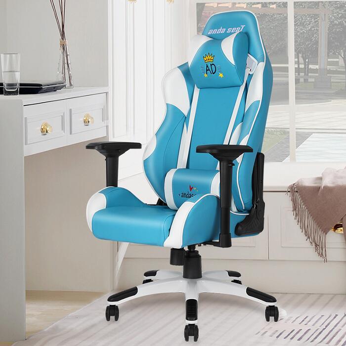 主播同款电竞椅 蓝色初音王座 高清场景图